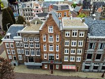 Madurodam,miniature park and tourist attraction in The Hague,Netherlands. Hague, Netherlands-October 2015, Madurodam, miniature park and tourist attraction royalty free stock photography