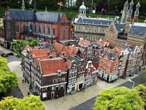 Madurodam,miniature park and tourist attraction in The Hague,Netherlands. Hague, Netherlands-October 2015, Madurodam, miniature park and tourist attraction stock photo