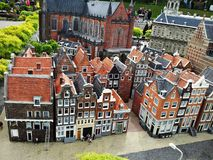 Madurodam,miniature park and tourist attraction in The Hague,Netherlands. Hague, Netherlands-October 2015, Madurodam, miniature park and tourist attraction royalty free stock photos