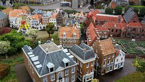 Madurodam,miniature park and tourist attraction in The Hague,Netherlands. Hague, Netherlands-October 2015, Madurodam, miniature park and tourist attraction stock image