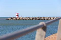 The hague netherlands sea lighthouse front royalty free stock photos