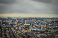 The Hague, NL in tilt-shift miniature Royalty Free Stock Photo