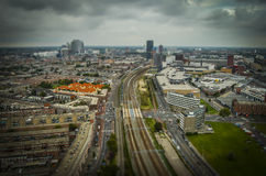 The Hague, NL in tilt-shift miniature Royalty Free Stock Images