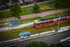 The Hague, NL in tilt-shift miniature Stock Photo