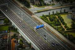 The Hague, NL in tilt-shift miniature Royalty Free Stock Photos