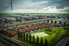 The Hague, NL in tilt-shift miniature stock image