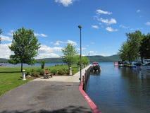 Hague Town Beach Park - Lake George, NY royalty free stock photos
