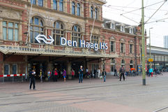 The hague train station Stock Image