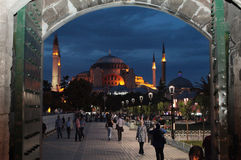 Hagya Sophia by night, Istanbul. Stock Photos