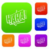 HAHA, comic text sound effect set color collection Royalty Free Stock Photography