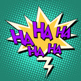 Haha komicznego bąbla retro tekst Zdjęcie Stock