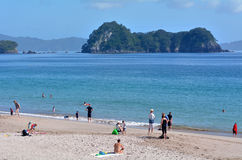 Hahei beach - New Zealand Stock Photography