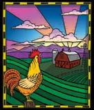 Hahn auf einem Bauernhof Lizenzfreies Stockbild