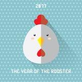 Hahn das Symbol neuen Jahres 2017 Stockbilder