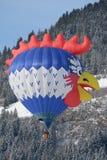 Hahn-Form-Ballon am Festival-Chateau DOex 2 Stockfotos