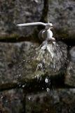 Hahn mit Auffrischungswasser-Spritzen Stockfotografie