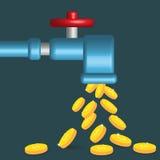 Hahn und Geld Stockbild