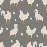 Hahn- und Hühnermuster stock abbildung