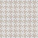 Hahnentritt-Gold u. beige Gewebe-Muster-Beschaffenheit Lizenzfreie Stockbilder
