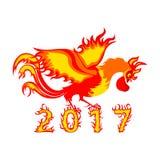 Hahnhahn, Symbol von 2017 auf dem chinesischen Kalender stockbild