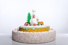 Hahnkuchen-Hennenkuchen, Hühnerkuchen, Vogelkuchen Stockbild