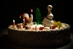 Hahnkuchen-Hennenkuchen, Hühnerkuchen, Vogelkuchen stockfoto