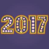 Hahnsymbolkalender 2017 der Zahl Stockbild