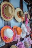 Hai. Colorful women hat in Thai market Stock Photo