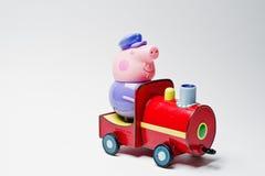 Hai, de Oekraïne - Augustus 10, 2017: stuk speelgoed karakter op een trein van FA Stock Afbeeldingen