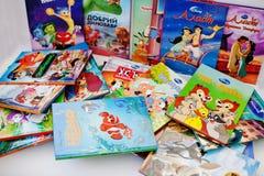 Hai, de Oekraïne - Februari 28, 2017: Differebt geanimeerde Disney-movi Royalty-vrije Stock Foto's