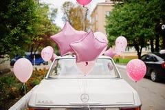 Hai, de Oekraïne - 07 November, 2017: wit retro Mercedes-Benz W114 Royalty-vrije Stock Fotografie