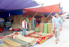 HAI DUONG, VIETNAM, SEPTEMBER, 8: people at Market selling bed m Royalty Free Stock Photography