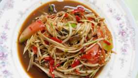 Hai Food: Papayasalataufschlag mit Gemüse Lizenzfreies Stockfoto