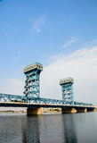 Hai men bridge with blue sky bakground in Tianjin city Haihe dis Stock Photo