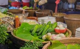 Hai style papaya salad shop. Image of Thai style papaya salad shop on street Stock Photo