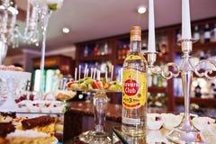 Hai, Ucrânia - 25 de outubro de 2016: Rum Havana Club na tabela de bufete imagem de stock royalty free