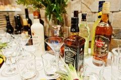 Hai, Ukraina - 08 Luty, 2018: butelka Jack Daniel ` s whiske Fotografia Royalty Free