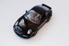 Hai Ukraina, Marzec, - 1, 2017: Mini kopia zabawkarski samochodowy Porsche GT2 ja Obrazy Stock