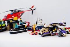 Hai Ukraina, Marzec, - 1, 2017: Różne zabawki od Lego bloków L Obraz Stock