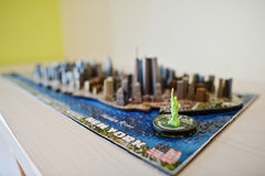 Hai, Ukraine - August 10, 2017: Close-up photo of a 3d New York. City map assembled from puzzles royalty free stock photo