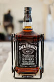 Hai, Ukraine - August 10, 2017: Jack Daniel`s alcohol drink in b Stock Photography