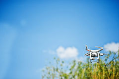 Hai, Ukraine - August 10, 2017: photo of a drone flying in the s Stock Photo