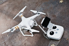 Hai, Ukraine - October 20, 2016: DJI Phantom IV Pro drone quadco Stock Images