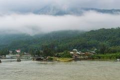 Hai Van pass, Da Nang city, Vietnam. Royalty Free Stock Photo