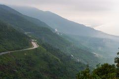 Hai Van pass, Da Nang city, Vietnam. Royalty Free Stock Photos