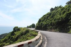 Hai Van Pass, Vietnam. Hai Van pass is a tourist attraction with its majestic outlook. At the top of the pass is Hai Van Quan, an ideal stopover for visitors Stock Images