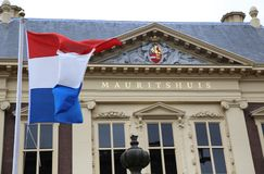 HAIA, OS PAÍSES BAIXOS - 18 DE AGOSTO DE 2015: O Mauritshuis AR Foto de Stock Royalty Free