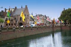 Haia, os Países Baixos - 18 de agosto de 2015: Vista em Buitenhof Foto de Stock Royalty Free