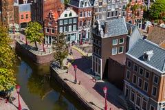Haia, Países Baixos - 26 de abril de 2017: Amsterdão em Madurodam Imagens de Stock