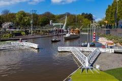 Haia, Países Baixos - 26 de abril de 2017: Represa de Maeslantkering em M Fotografia de Stock Royalty Free